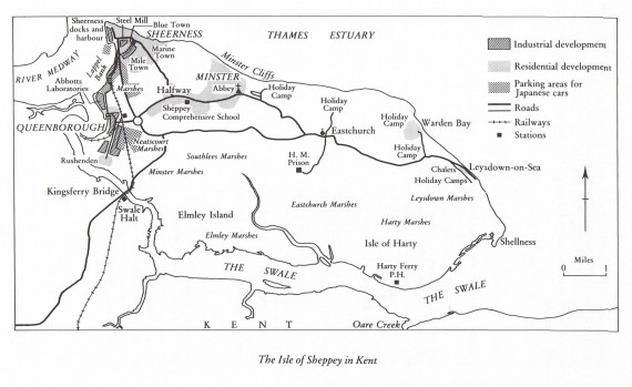 Ray Pahl's map of Sheppey